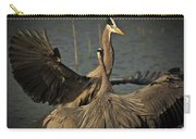 Fighting Great Blue Herons Carry-all Pouch