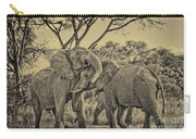 fighting male African elephants Carry-all Pouch