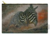 Fighting Zebras Carry-all Pouch