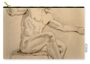 Figure On A Rock Carry-all Pouch by Sarah Parks