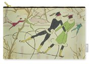 Figure Skating  Christmas Card Carry-all Pouch by American School