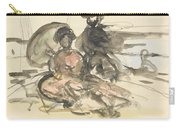 Figure Study Two Women Seated Carry-all Pouch
