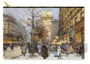 Figures On Le Boulevard St. Denis At Twilight Carry-all Pouch