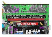 Film Homage Frank Buck Bring 'em Back Alive 1932 Collage Fox Tucson  Arizona 1932-2011 Carry-all Pouch