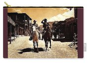 Film Homage Mark Slade Cameron Mitchell Riding Horses The High Chaparral Old Tucson Arizona Carry-all Pouch
