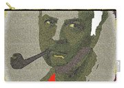 Film Noir Mystery Writer Raymond Chandler Vignetted Texture Color Added 2013 Carry-all Pouch