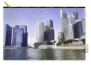 Financial District Of Singapore And View Of The Water Carry-all Pouch