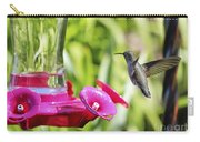 Fine Feathered Hummingbird Carry-all Pouch