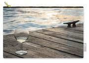 Finger Lakes Wine Tasting - Wine Glass On The Dock Carry-all Pouch