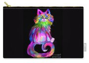 Finger Painted Cat Carry-all Pouch