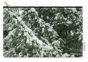 Fir Tree Branch Covered With Snow  Carry-all Pouch