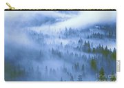 Fir Trees Shrouded In Fog In Yosemite Valley Carry-all Pouch