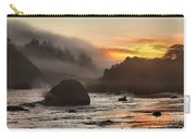 Fire And Fog At Trinidad Carry-all Pouch by Adam Jewell