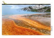 Fire And Ice - Grand Prismatic Spring On A Cloudy Day. Carry-all Pouch