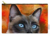 Fire And Ice - Siamese Cat Painting Carry-all Pouch