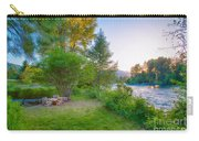Fire And Water At Cottonwood Cottage Carry-all Pouch