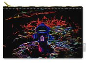 Fire Hydrant Bathed In Neon Carry-all Pouch