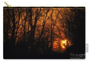 Fire In The Woods Sunset Carry-all Pouch