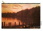 Fire On Lake Newport  Carry-all Pouch