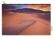 Fire On Mesquite Dunes Carry-all Pouch by Darren  White