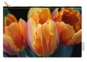 Fire Orange Tulip Flowers Carry-all Pouch