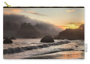 Fire Over The Sea Stacks Carry-all Pouch by Adam Jewell