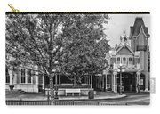 Fire Station Main Street In Black And White Walt Disney World Carry-all Pouch