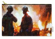 Firefighters At The Scene Carry-all Pouch