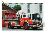 Fireman - Fire Engine In Front Of Fire Station Carry-all Pouch