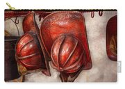 Fireman - Hat - Old Fashioned Fire Hats  Carry-all Pouch by Mike Savad