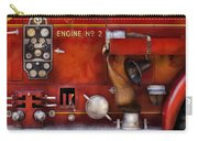 Fireman - Old Fashioned Controls Carry-all Pouch by Mike Savad