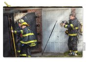 Fireman - Take All Fires Seriously  Carry-all Pouch by Mike Savad