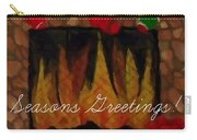 Fireplace - Seasons Greetings Carry-all Pouch