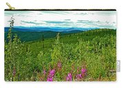 Fireweed And Mountains From Top Of The World Highway-yukon Carry-all Pouch