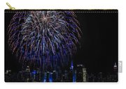 Fireworks In New York City Carry-all Pouch by Susan Candelario