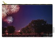 Fireworks In St. Charles Carry-all Pouch by Cindy Tiefenbrunn