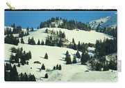Firs Decoration Winterscape Carry-all Pouch