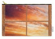 First Dawn Barn Wood Picture Window Frame View Carry-all Pouch by James BO  Insogna