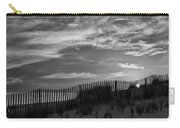 First Light At Cape Cod Beach Bw Carry-all Pouch