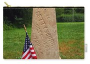 First Shot Monument Gettysburg Carry-all Pouch by James Brunker