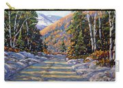 First Snow By Prankearts Carry-all Pouch by Richard T Pranke