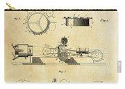 First True Motion Picture Projector Patent  1897 Carry-all Pouch