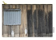 Fish Drying Outside Rustic Fisherman House Carry-all Pouch