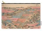 Fish Market By River In Edo At Nihonbashi Bridge  Carry-all Pouch by Hokusai
