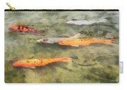 Fish - School Of Koi Carry-all Pouch by Susan Savad