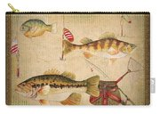 Fish Trio-a-greenborder Carry-all Pouch