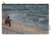 Fisherman At The Beach Carry-all Pouch