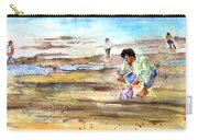 Fisherman On Las Canteras Beach Carry-all Pouch