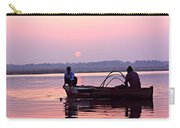 Fisherman On The Ganges River At Varanasi Carry-all Pouch