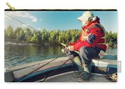 Fisherman Sitting On Foredeck Carry-all Pouch